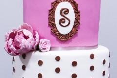 Kate Spade Rose Gold Cake