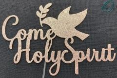 Confirmation Holy Spirit Cake Topper Dove