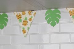 Pineapple and Tropical Leaf Banner