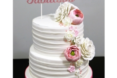 Pretty-Fondant-Pleated-Birthday-Cake-Rose-Flower-Ranunculus-Sugar-Flowers-40th-Birthday