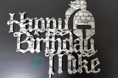 Medieval Knight Cake Topper