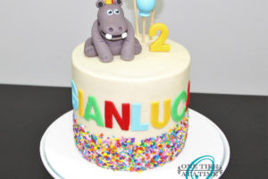 Hippopotamus Birthday Cake